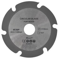 dischi per smerigliatrice taglio legno mm 115x22 - marca ECEF