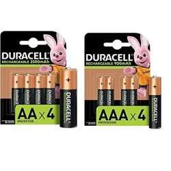 BATTERIE DURACELL RICARICABILI AAA Pz.4