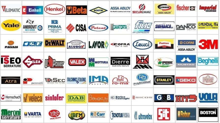 Questi i marchi dei nostri maggiori partners: